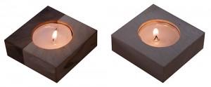 Holzteelichter Ahorn/Nuss & Ahorn